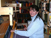 Robyn at the Loom