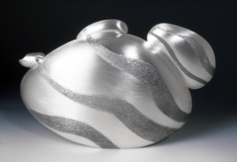 Rockpot Argentium sterling silver teapot by Cynthia Eid