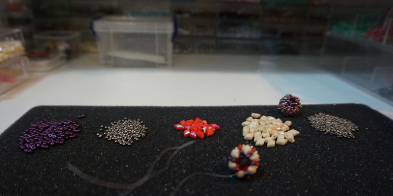 Beading in the Basement Doesn't Dim Cecil Rodriguez's Style