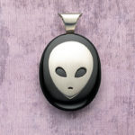 Is Anyone Out There? Onyx Alien Jewelry Design by Roger Halas