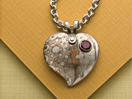 make the mokume gane heart pendant by Roger Halas