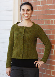 Knitting Gallery - Ropes and Picots Cardigan Annie