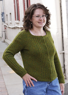 Knitting Gallery - Ropes and Picots Cardigan Debbie