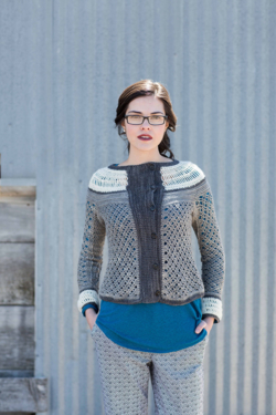 Ruched Cardigan Crochet Pattern