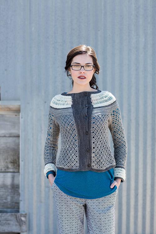 Ruched Cardigan Crochet Pattern