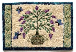 Teresa Layman's miniature knotted rug. All photos by Joe Coca.