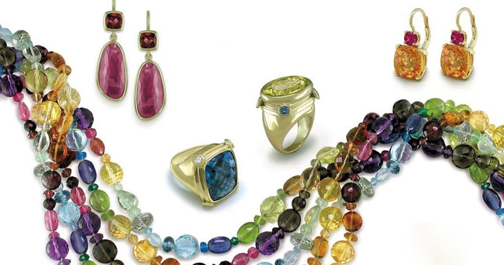 colorful jewelry: Courtesy of jeweler Ruth Taubman, Ann Arbor