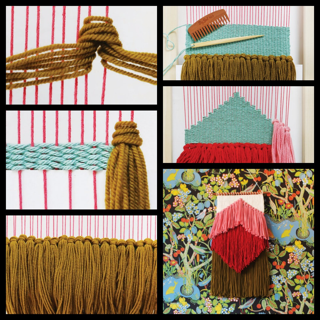 Rya knots are a wonderful DIY wall hanging technique, perfect for creating all different kinds of fringe.