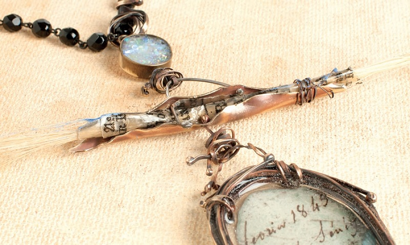 resin jewelry making and prayer scrolls by Susan Lenart Kazmer