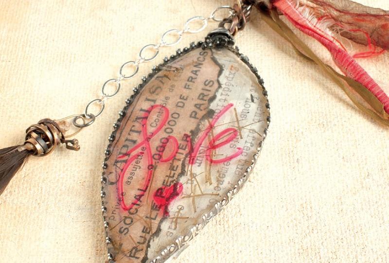 resin jewelry making: backless bezels by Susan Lenart Kazmer