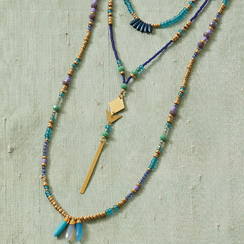 #TrendWatch Lariats are trending, make your own beaded necklace using beads, chain and other materials that create your personal statement