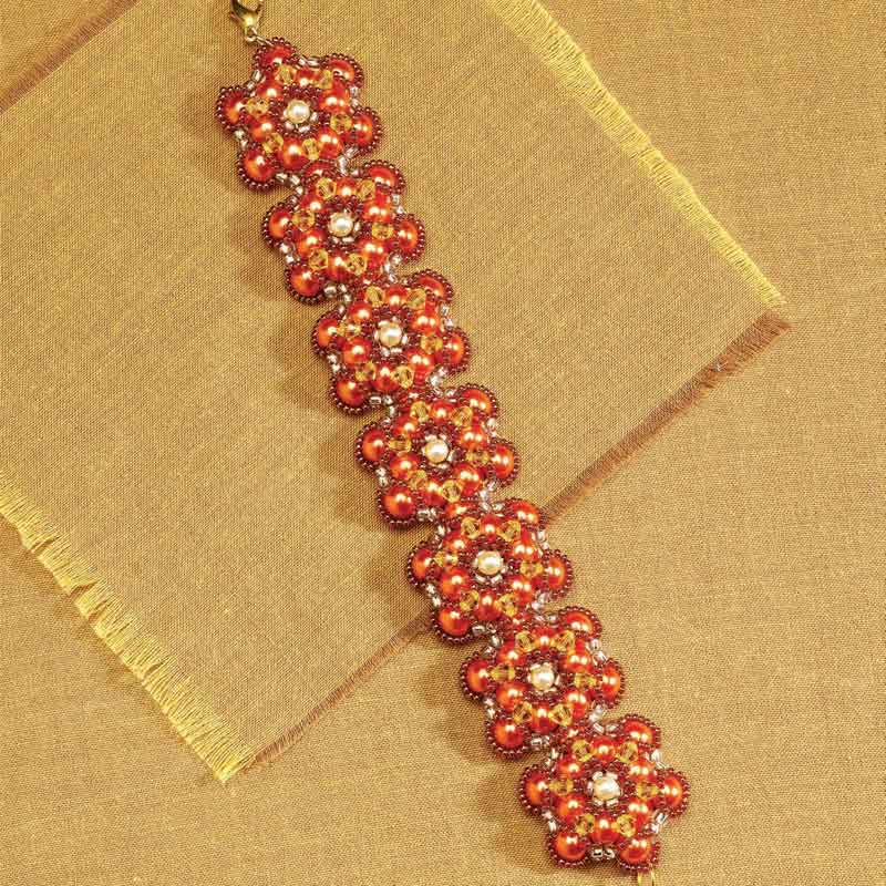 5 star pattern collection, Saffron Blooms beading pattern