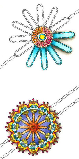 Sample Crochet Coloring Book Medallions
