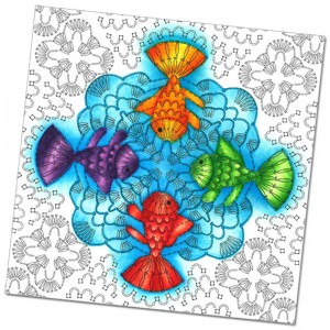 Sample Crochet Coloring Page---Fish