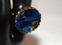 bottle cap jewelry mixed media upcycled