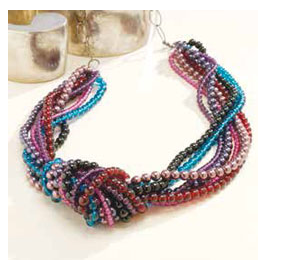 Bead Knotted Necklace free project by Cody Westfall