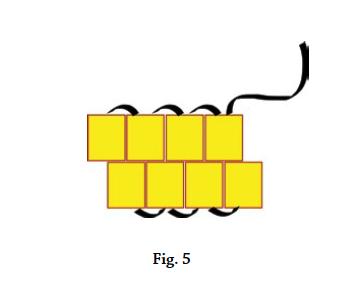 Brick stitch basics, figure 5