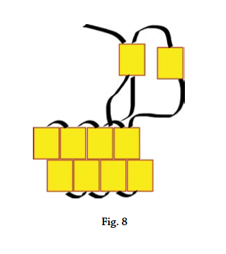 Brick stitch basics, figure 8