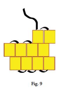 Brick stitch basics, figure 9