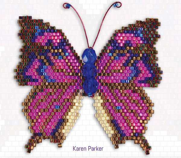 Brick Stitching Nature: Charts for Beaded Butterflies, Dragonflies, and a Honeybee, by Karen Parker