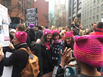 Protesters gather in New York City during the Women's March January 21, 2017. (Photo by Frank Chambers)
