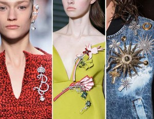 Bold and beautiful brooches from the runway