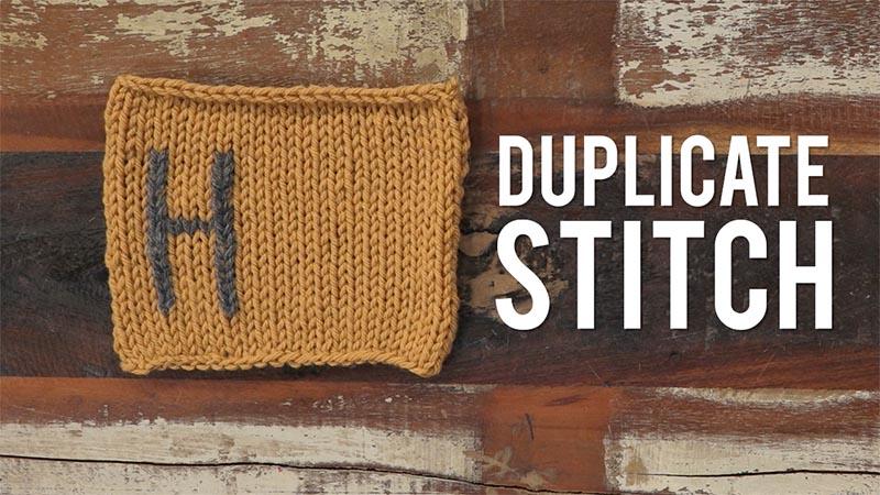 Interweave Yarn Hacks: Duplicate Stitch!
