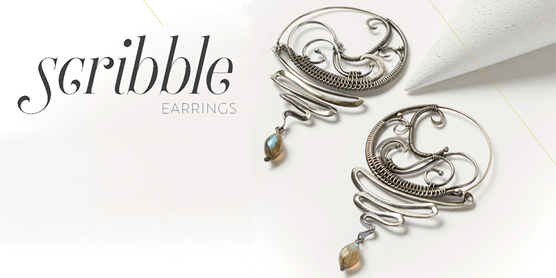 <em>Woven in Wire</em> Jewelry: Scribble Earrings
