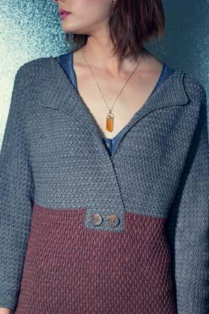 Front of Crochet Seaside Sweater