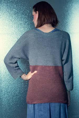 Back of Seaside Crochet Sweater
