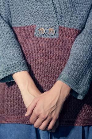 Buttons on Crochet Seaside Sweater