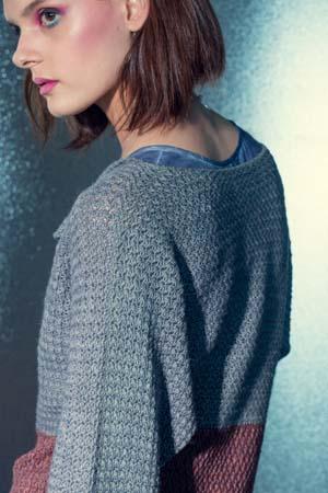 Shoulder of Seaside Crochet Sweater
