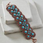 Blooming Tartan Bracelet by Katie Dean