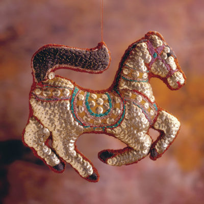 A Sequined Horse Ornament to Embroider