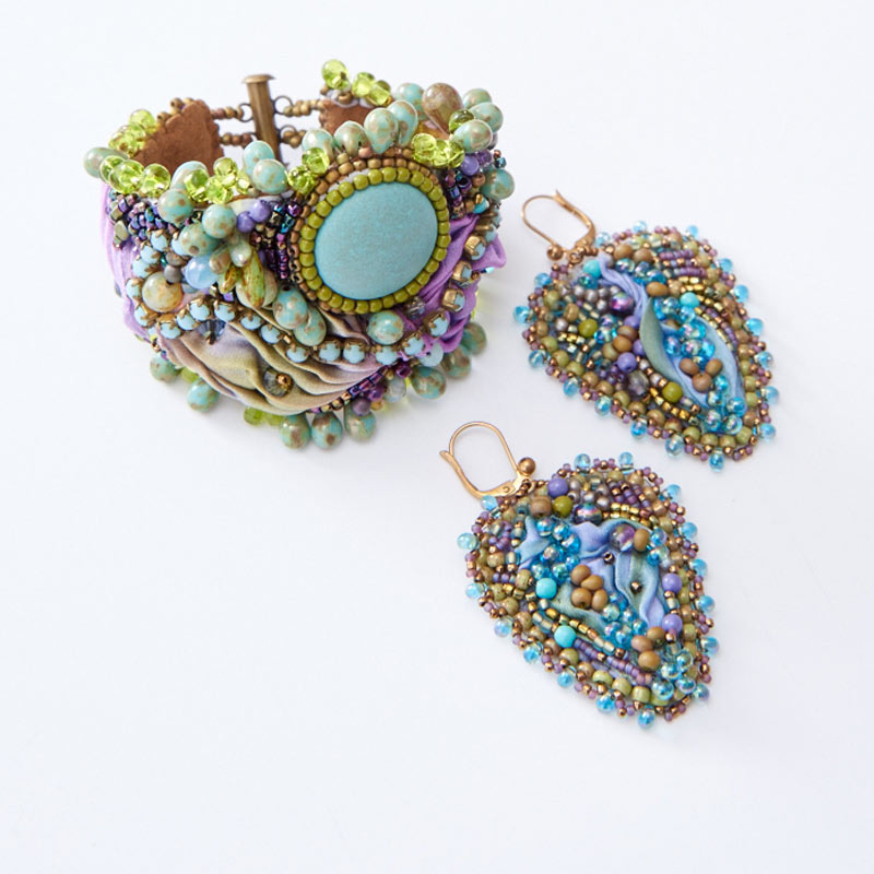 Learn All About Sherry Serafini, Bead Embroidery Goddess. Bead embroidery and shibori designs.