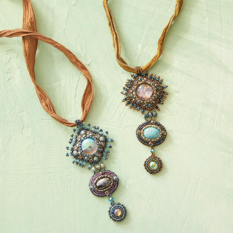 Learn All About Sherry Serafini, Bead Embroidery Goddess. Bead embroidered sunburst pendant