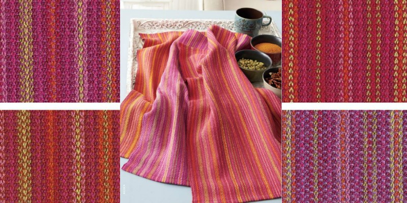 Weekend Weaving: Shades of India Towels