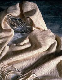 Handwoven silk lace shawl by Sharon Alderman