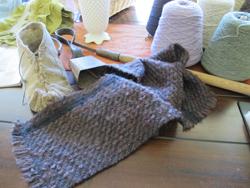 Wool shawl woven by Oregon weavers