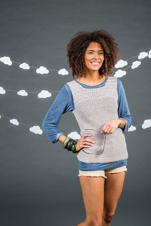 Silver Ingot Tank Top Crochet Pattern