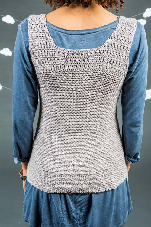 Back of Silver Ingot Tank Top