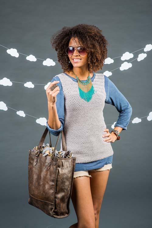 Silver Ingot Crochet Tank Top
