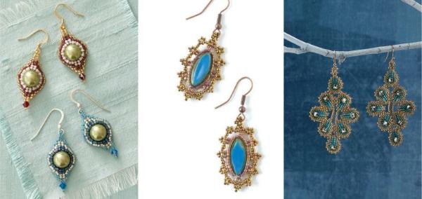 Mod Pod Earrings, Lacy Marquise Earrings, Ravenna Earrings