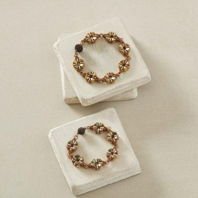 Double Primrose Bracelet by Kathy Simonds