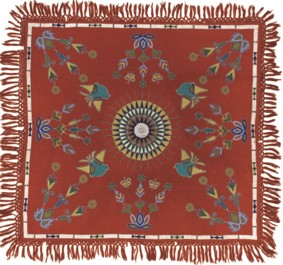 Sisseton-Wahpeton beaded table cover, c. 1890,