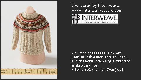 Second Place Winner: Sue Resseguie, Fair Isle and Cables Sweater