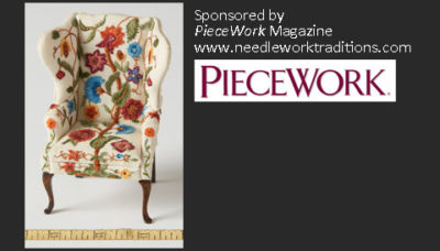 Honorable Mention: Mary Ann Johnson, Embroidered Wingback Chair
