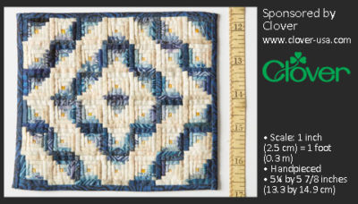 First-Place Quilting Winner: Patricia Richards, Miniature Quilt in Barn Raising Pattern
