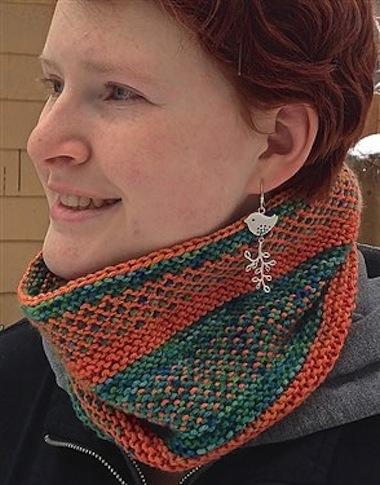 Slippy Cowl Free Knit Cowl Pattern Interweave