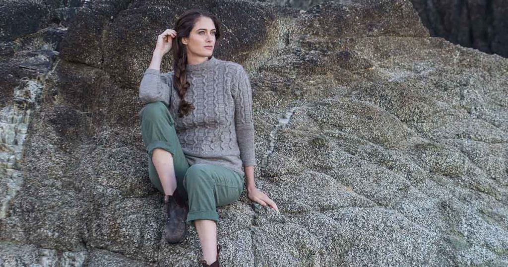 <em>Knitting Ganseys Revised and Updated</em>: Snakes and Ladders Gansey Pullover